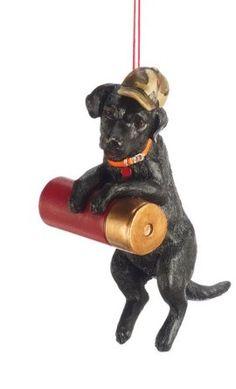 Black Labrador Hunting Dog  Christmas Ornament