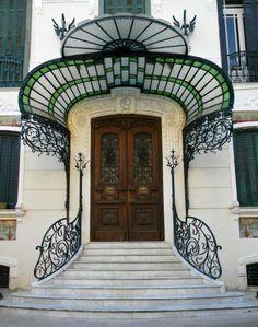 Design Art Nouveau Entrance 19 Ideas For 2019 Architecture Design, Architecture Art Nouveau, Cool Doors, Unique Doors, Bg Design, Door Design, Deco Baroque, Art Deco, Marquise