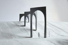 Gijs Van Vaerenbergh Arcade Architecture, Concept Models Architecture, Architecture Design, Architectural Sculpture, Architectural Models, Street Installation, Arch Model, Brutalist, Scale Models