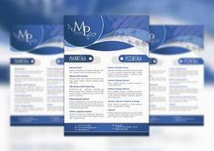 Graphic design of a business flyer. #graphicdesign #design #brochure #flyer #business #leták