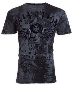 Archaic AFFLICTION Men T-Shirt BLACK TIDE Skull Tattoo Biker MMA UFC L-3XL $40 a #Affliction #GraphicTee