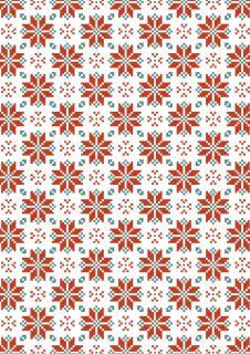 Cosy winter scrapbook paper - Scandinavian design