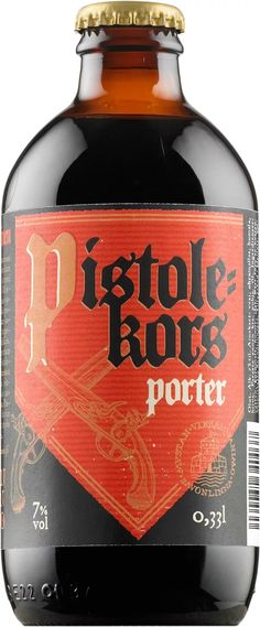 Pistolekors Porter by Mustan Virran Panimo from Finland. 6/10 pts