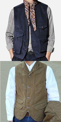 Fashion Coat, Fashion Clothes, Men Fashion, Latest Fashion, Fashion Outfits, Chic Clothing, Mens Clothing Styles, Vest Men, Chic Outfits