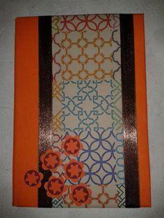 caderno laranja