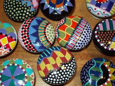 Inspiration for drawer pulls on desk. Could cover with fabric