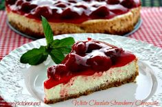 Mommy's Kitchen - Old Fashioned & Southern Style Cooking: Crock Pot White Chocolate Strawberry Cheesecake