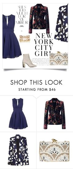 """Navy blue"" by designismyprime ❤ liked on Polyvore featuring TFNC, Roberto Cavalli, Kelly Love, Rika, KOTUR and River Island"