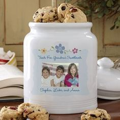 Custom Personalized Photo Cookie Jar - several differenet styles