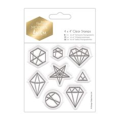 """4 x 4"""" Clear Stamps - Modern Lustre - Geo Shapes 