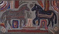 Image - Magdalena's Double Horses (31 x 48) by Debra Nees