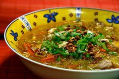 Filipino Recipe Chicken Sotanghon Soup - bean thread noodles