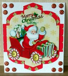 Cute Christmas 2 on Craftsuprint designed by Carol Brown - made by Cheryl French - Printed onto glossy photo paper. Attached base image to card stock using glue. Built up image with 1mm foam pads. Added card candy. - Now available for download!