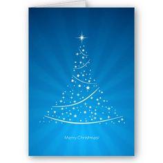 Tarjeta (azul) del árbol de navidad