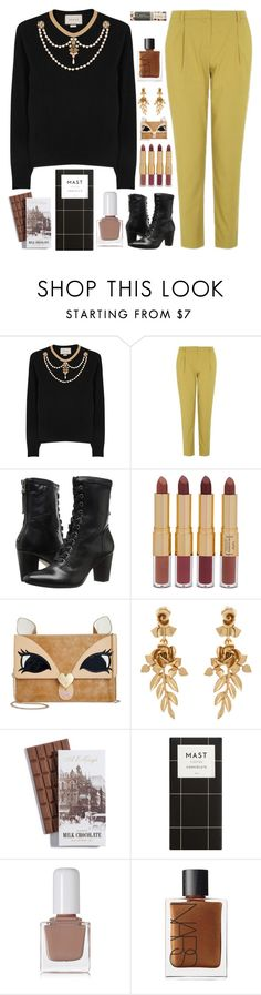 """When The Guests Come Over..."" by sweet-jolly-looks ❤ liked on Polyvore featuring Gucci, Topshop, Johnston & Murphy, tarte, Betsey Johnson, Oscar de la Renta, tenoverten, NARS Cosmetics, Christmas and simple"