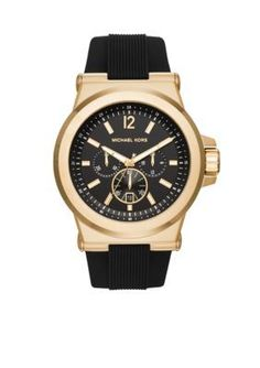 Michael Kors  Mens Gold-Tone and Black Dylan Watch