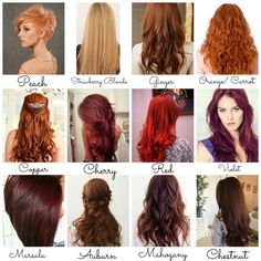 Ginger Or Auburn Only Fall Hair Colors Red Color Cool