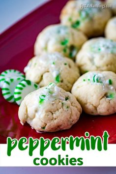 These easy to make peppermint cookies are a tasty Christmas Cookies that would be GREAT as a chocolate dippping item idea for your Christmas party! Tasty Green Peppermint Cookies with icing and crushed peppermints for a fun to make holiday treat. Nutter Butter Cookies, Cake Mix Cookies, Yummy Cookies, Delicious Cookie Recipes, Dessert Recipes, Yummy Food, Tasty, Desserts, Holiday Cookies