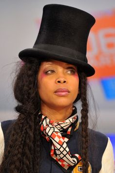 """Erykah Badu Photos - Recording artist Erykah Badu visits BET's & Park"""" at BET Studios on March 2010 in New York City. Meagan Good, Kevin Spacey, Now And Forever, Beauty Editorial, Celebs, Celebrities, Beautiful Black Women, Woman Crush, Record Producer"""
