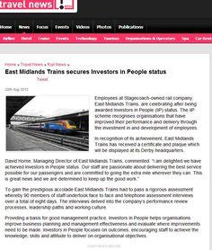 East Midlands Trains secures Investors in People status