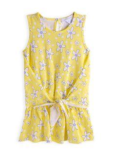 Pumpkin Patch - dresses - daisy knot front dress - S3TG80069 - retro blossom - 12-18m to 5
