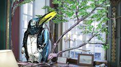 INFLUENCIA SHOPPER / couv - serie TV le vieil homme et les fables, le corbeau et le rena