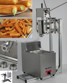 470.00$  Watch now - 4 in 1 3L Manual Churros Maker + Working Stand + 6L Gas Fryer + 700ml Churros Filler  #buyininternet