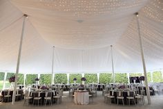 Tessa and Jake's Milwaukee Country Club Elegant Wedding — PB milwaukee.wedding #stars #tent #lights #decor #purple #flowers #silver Planning by Evenement Planning / Flowers by Impressions by Esther Fleming / Tent by Canopies Tent and Rental