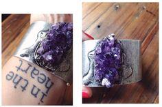 one piece #amethyst #bracelet #heart #jewels #jewelry #crystal #crystalstone #gems #gemsstone #stone #silver #art #amethyste #love #purple #ootd #instajewels