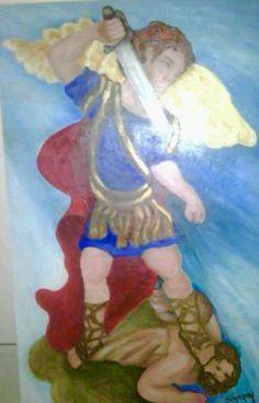Desde mi galería  Acrílico  Arcángel San Miguel