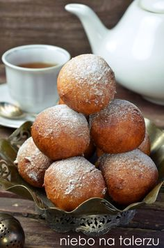 Donut Recipes, Cake Recipes, Cooking Recipes, Paczki Donuts, Doughnuts, Churros, Low Carb Side Dishes, Polish Recipes, Food Cakes