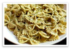 Creamy pesto Pasta. I have made this recipe before and it is DELICIOUS