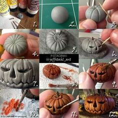 TUTORIAL : clay pumpkin by JeffStahl.deviantart.com on @deviantART