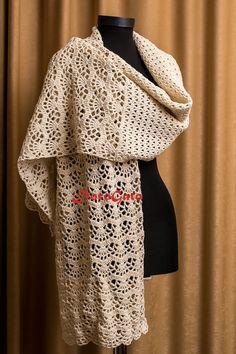 Bridal Shawl, Wedding Shawl, Ivory shawl, lace shawl, Bridal stole, Handmade scarf, wrap shawl, Bride rectangle throw, Bridal Cover up