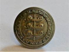 British Army. Cinque Ports Artillery Volunteers Original OR's Helmet Plate Badge In White Metal. Three Loops On Reverse. Sold With An Original Cinque Ports Artillery Volunteers Tunic Button . | eBay!