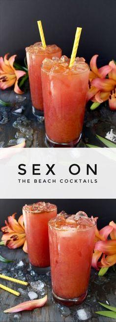 Sex on the Beach Cocktail Recipe   CiaoFlorentina.com @CiaoFlorentina