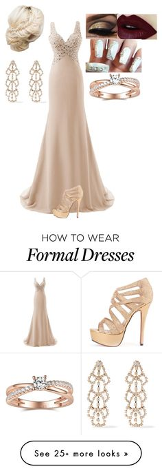 """""""Prom 2k16"""" by thedoctor2 on Polyvore featuring Kenneth Jay Lane, women's clothing, women's fashion, women, female, woman, misses and juniors"""