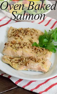Easy Oven Baked Salmon Recipe. This simple, low fat recipe will help you get dinner on the table in less than 20 minutes!   www.PancakeWarriors.com