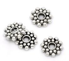 DoreenBeads 100PCs Snowflake Spacers Beads Findings 8mm Dia.(China (Mainland))