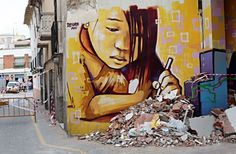 Street Art: 111 Most Interesting Photos. It's time to look at the photos, which recognized the best pictures of street art. Street Art: 111 Most 3d Street Art, Street Art Utopia, Amazing Street Art, Best Street Art, Street Artists, Graffiti Art, Street Art Graffiti, Art And Illustration, L'art Du Portrait