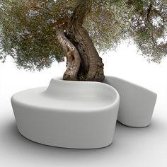 Garden bench SARDANA by @Qui Est Paul | Design CrousCalogero