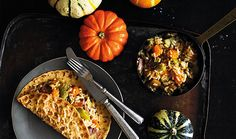 Pumpkin risotto with an original pancake, too delicious just to eat in autumn!