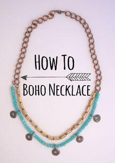 How To Boho Necklace