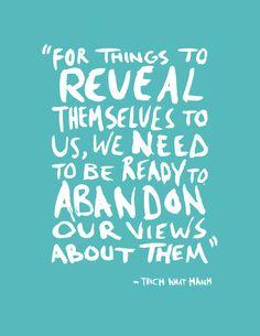 an open mind.....