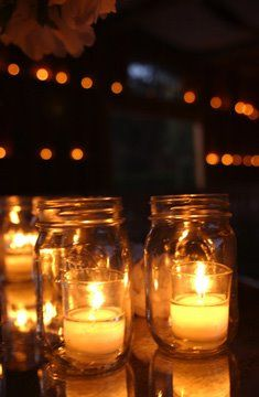 mason jar candle holders....not sure why, but i absolutely love these!! <3