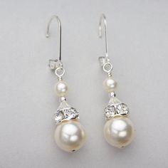 Swarovski Pearl, Rhinestone & Crystal Earrings