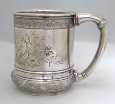 Gorham Aesthetic Sterling Silver Baby Cup 1890