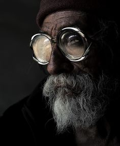 old man w/ wonderful goggle glasses
