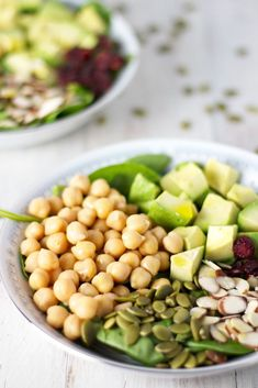 Chickpea Fall Salad by JarOfLemons.com! Vegan, vegetarian, gluten-free, SUPER easy and quick to make!