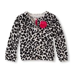 Dots hit the spot for cute looks, especially with this sweet leopard cardigan sweater!
